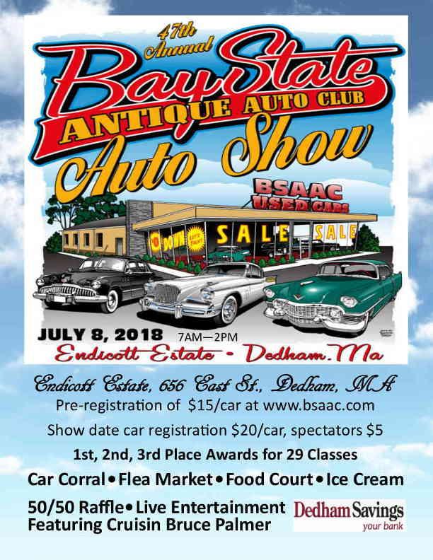 47th Annual BSAAC Car Show - Sunday, July 8, 2018 - Endicott Estate ...